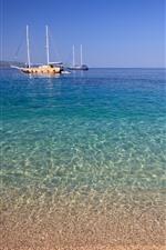 Croatia, yachts, sea, coast