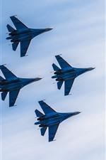 iPhone壁紙のプレビュー 4機、飛行、戦闘機、空
