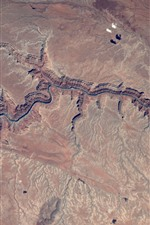Preview iPhone wallpaper Grand Canyon, from space to view the Earth