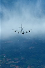 Preview iPhone wallpaper KC-135R stratotanker flight in sky, airplane