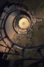iPhone обои Лестница, спираль, пыль
