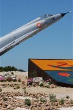 Vorschau des iPhone Hintergrundbilder Mirage 2000C Kämpfer, Denkmal