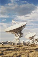 Novo México, observatório, antena, grama, EUA