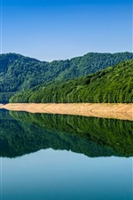 Preview iPhone wallpaper Romania, lake, mountains, water reflection
