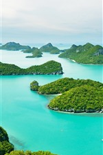 Preview iPhone wallpaper Thailand, Phuket, blue sea, boats, islands