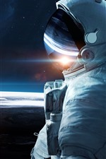 Preview iPhone wallpaper Astronaut, infinity, space, earth