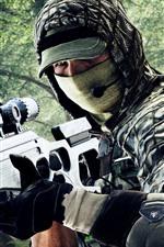 iPhone обои Battlefield 4, Снайпер, Солдат, Маска