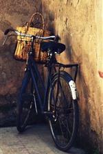 Vorschau des iPhone Hintergrundbilder Fahrrad, Korb, Tür, Wand