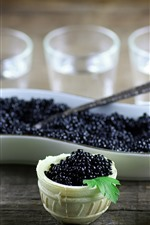 Preview iPhone wallpaper Black caviar, food