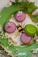 Preview iPhone wallpaper Cakes, macaron, colorful, food, plate