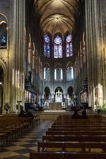 Preview iPhone wallpaper France, Paris, church, interior, hall