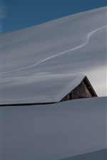Heavy snow, roof, house, winter