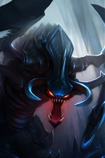 Preview iPhone wallpaper Monster, claws, horns, League of Legends