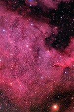Preview iPhone wallpaper North America Nebula, space, stars, purple