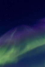Preview iPhone wallpaper Northern lights, stars, beautiful sky, night