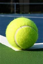 Um tênis verde, bola