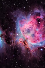 Preview iPhone wallpaper Orion Nebula, stars, purple space