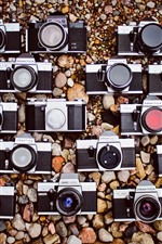 Preview iPhone wallpaper Some cameras, stones