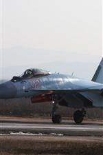 Vorschau des iPhone Hintergrundbilder Su-35 Mehrzweckjäger, Fallschirm
