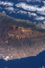 Preview iPhone wallpaper Tenerife, island, view from space