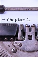Máquina de escrever, frase