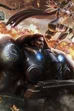 Preview iPhone wallpaper Warcraft, Heroes of the Storm, warrior, war