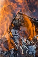 Madeira, fogo, lenha, flam
