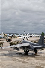 Preview iPhone wallpaper Airport, army, aircraft, helicopters, fighters