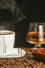 Preview iPhone wallpaper Coffee, tea, cigar, cup