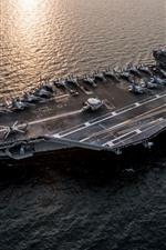 ВМС, корабль, авианосца, море