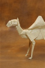 Preview iPhone wallpaper Paper camel, origami