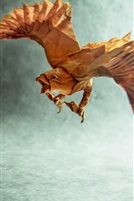 Preview iPhone wallpaper Paper eagle, origami, wings, creative picture