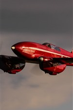 Preview iPhone wallpaper Red aircraft, sky