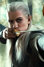 Preview iPhone wallpaper The Lord of the Rings, Elf, Legolas, art picture