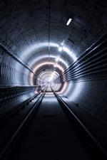 Туннель, огни, трек