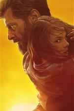 Preview iPhone wallpaper Wolverine, Logan, Hugh Jackman, girl
