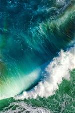 Aperçu iPhone fond d'écranMer bleue, vagues, eau, mousse, vue de dessus