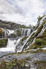 Iceland, waterfalls, water stream