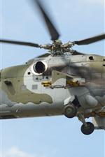 iPhone壁紙のプレビュー MI-24Vヘリコプター