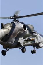 Aperçu iPhone fond d'écranHélicoptère Mi-35, vol, ciel