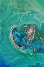iPhone обои НАСА, Спутниковая фотография, море, Земля