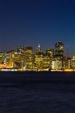 Aperçu iPhone fond d'écranSan Francisco, ville, gratte-ciel, ville, lumières, nuit, mer