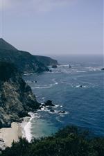 iPhone обои Море, побережье, горы, утес, природа пейзаж