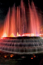 Preview iPhone wallpaper USA, fountain, water, night, city