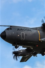 Preview iPhone wallpaper A400M military transport, airplane
