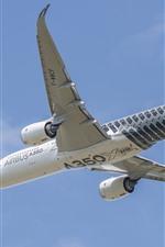 Vorschau des iPhone Hintergrundbilder Airbus A350 Flugzeug, Flug, Himmel