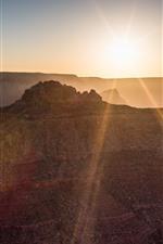 Preview iPhone wallpaper Arizona, New Mexico, Grand Canyon, sunrise, glare