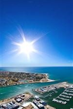 iPhone壁紙のプレビュー オーストラリア、マンドゥラ、ベイ、海岸、ボート