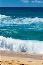 Preview iPhone wallpaper Beautiful sea, beach, coast, water, foam