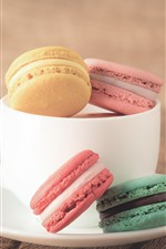 Preview iPhone wallpaper Cup, macaron, colorful, red flowers